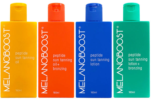 Melanoboost Peptide Sun Tanning Oils and Lotions