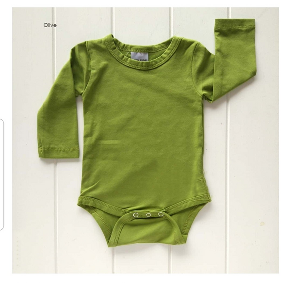 Long Sleeve Body Suits - Olive