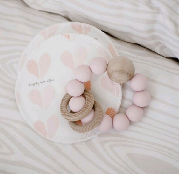 Breast Pads - Pink Peach tones