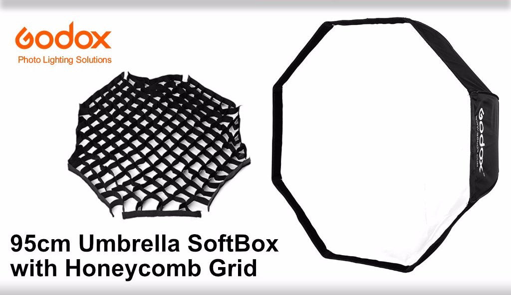 Godox 95cm Octagonal Umbrella SoftBox with Honeycomb Grid