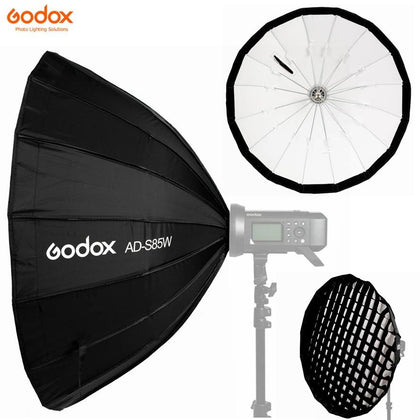 Godox AD-S85W 85cm Quick Fold SoftBox with Grid for AD400Pro - Arahan Photo