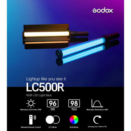 Godox LED RGB Light Stick LC500R - Arahan Photo