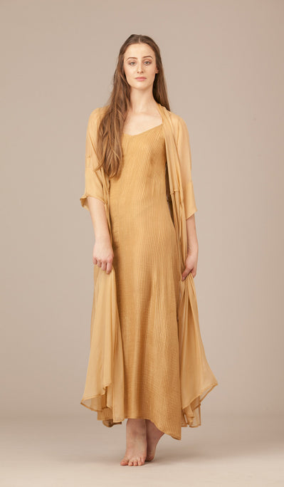 Lux Pearl Silk Slip Dress.