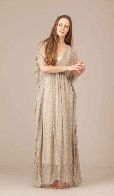 Erline Long Silk Dress (with Slip)
