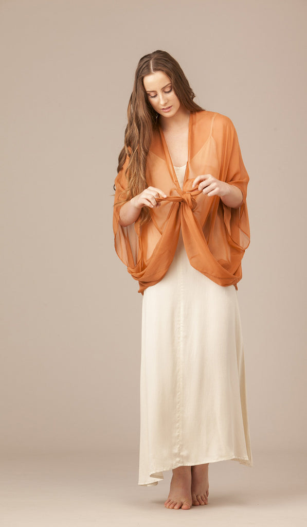 Short Tempest Silk Shawl. WAS $259. NOW $100.
