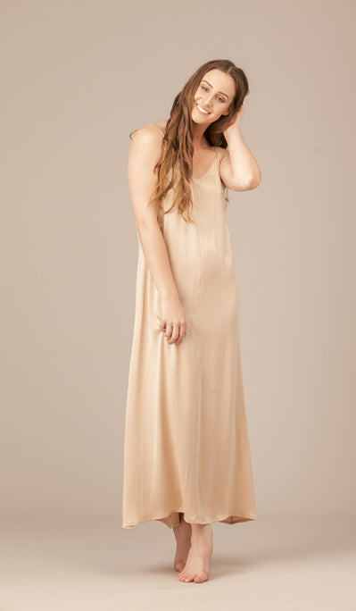Pearl Silk Slip Dress.