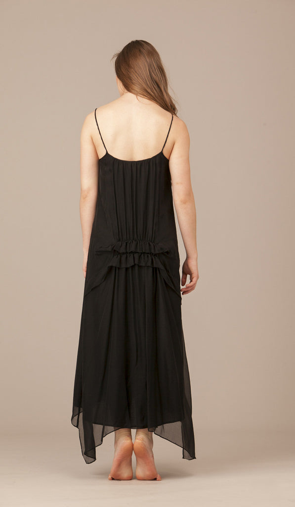 Margerite Reverse Long Silk Ruffle Dress. SOLD OUT