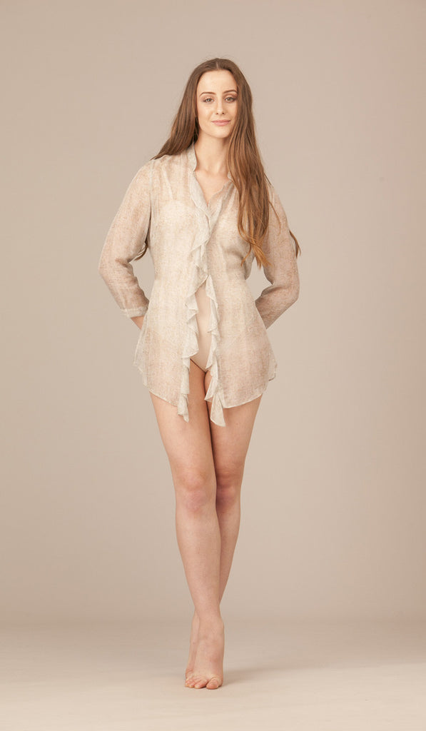 Desdemona Silk Ruffle Shirt Jacket. SOLD OUT