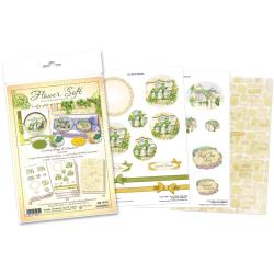 Flower soft - Katy Sue Designs Papercraft Kit - Everyday Country Village 3D Stackers