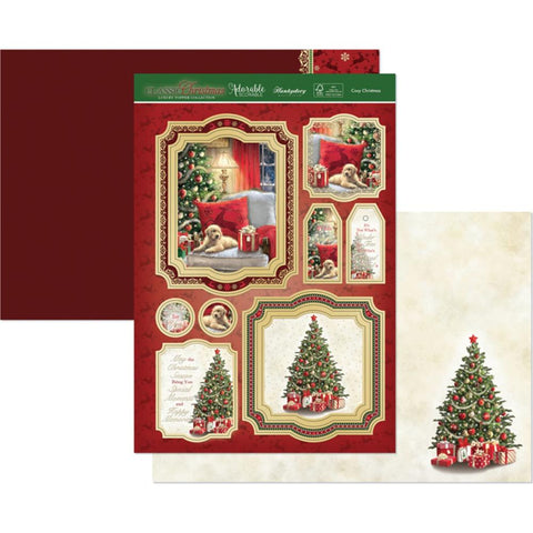 Hunkydory Classic Christmas Luxury A4 Topper Set -Cosy Christmas