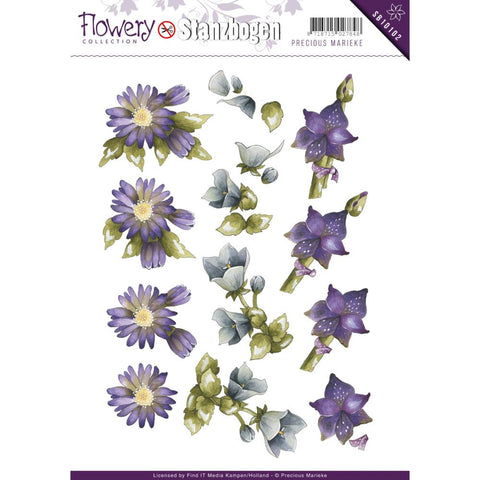 Find It Precious Marieke Flowery Punchout Sheet