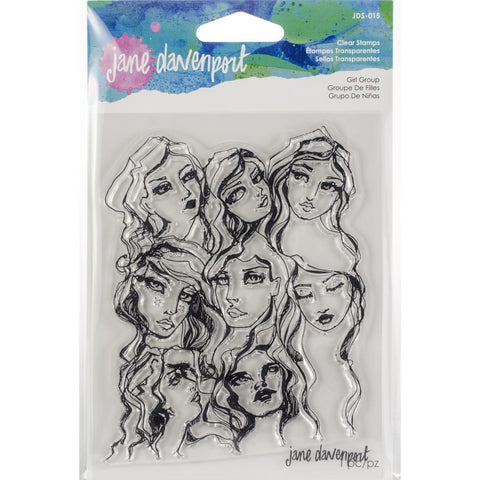 Girl Group - Jane Davenport Mixed Media Acrylic Stamps
