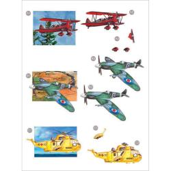 "3D Die-Cut Decoupage Sheet 8.3""X11.69""- Planes"