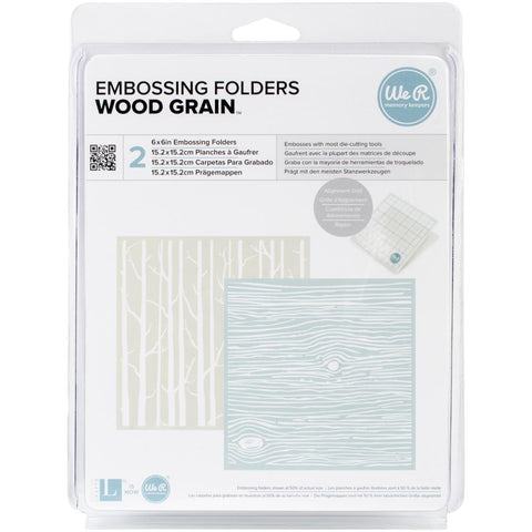 "Wood Grain  / Trees - Goosebumpz 6""X6"" Embossing Folder 2"