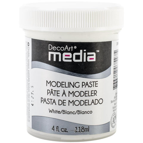 DecoArt Media Modeling Paste 4oz - White