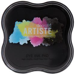 Artiste Dye Ink Pad Black - Docrafts
