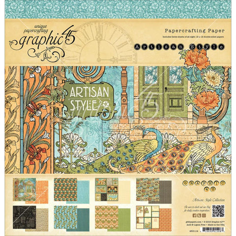 "Artisan Style 12""x12"" Double Sided Paper Pad"