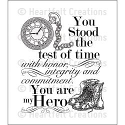 "Heartfelt Creations Cling Rubber Stamp Set 5""X6.5"" My Hero"