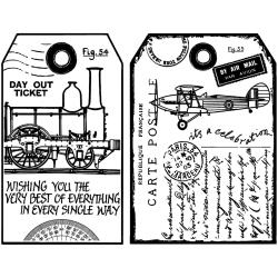 Man's World Large Tags - Crafty Individuals -  Unmounted Rubber Stamp