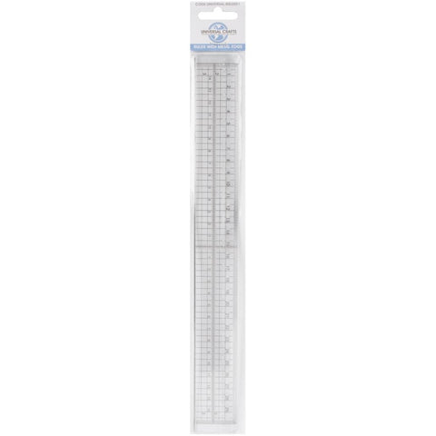 30 cm Ruler With Metal Edge and stitch holes