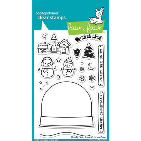 "Lawn Fawn ""Ready Set Snow"" Stamp Set and Die Set Bundle"