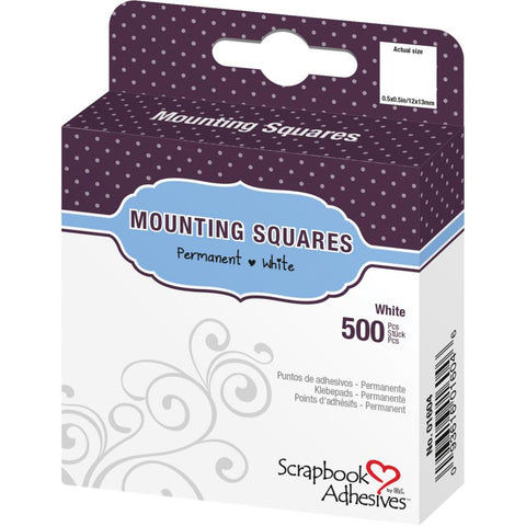 Scrapbook Adhesives  White Mounting Squares 500/Pkg