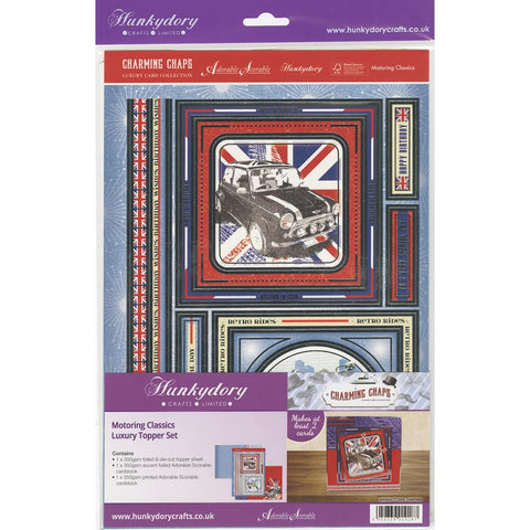 Hunkydory Charming Chaps A4 Topper Set- Motoring Classics