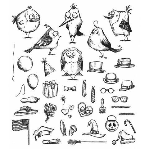 Mini Bird Crazy & Things Die and Stamp Bundle