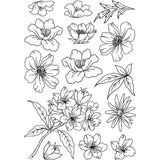 Flower Heads 2 -Crafty Individuals Unmounted Rubber Stamp