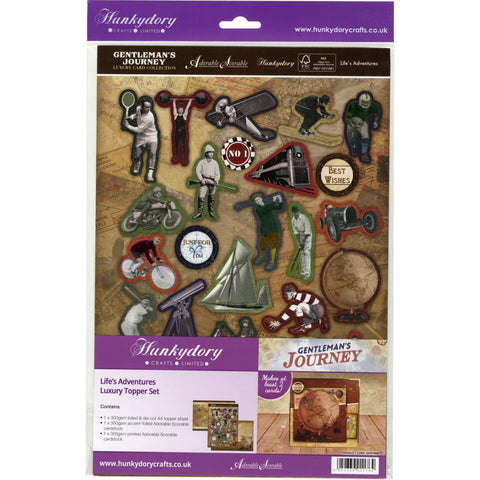 Hunkydory Gentleman's Journey A4 Topper Set