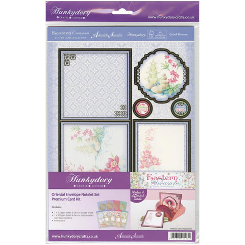 Hunkydory Eastern Treasures: Oriental A4 Notelets W/Envelopes Kit