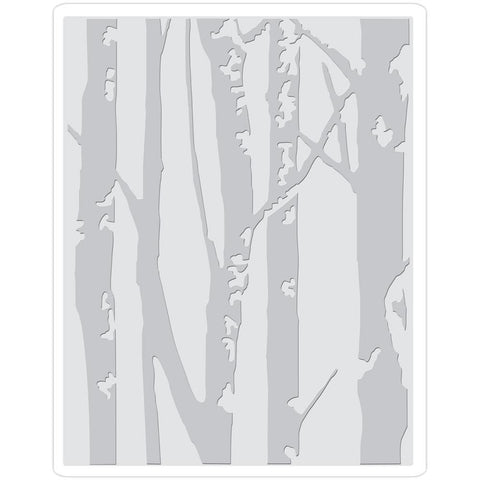 Birch Trees Sizzix Texture Fades Tim Holtz Embossing folder