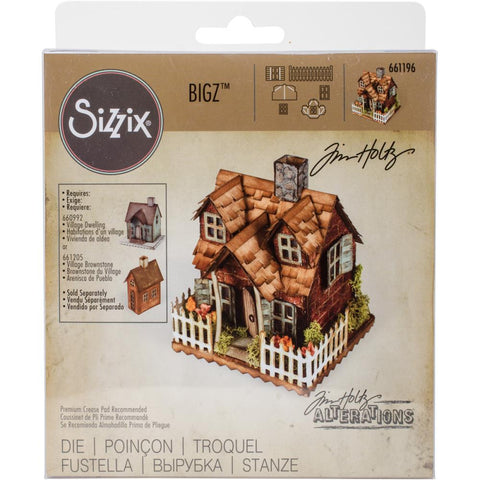 "Village Bungalow - Sizzix Bigz Die By Tim Holtz 5.5""X6"""
