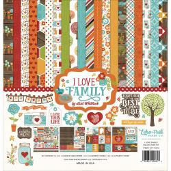 "Echo Park Collection Kit 12""X12"" - I Love Family"