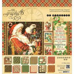 Graphic 45-St Nicholas 8x8 inch Double Sided Paper Pad.