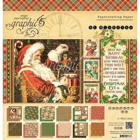 "St Nicholas 12"" x12"" Double Sided Paper Pad"
