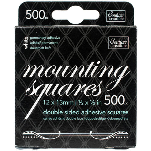 Couture Creations  White Mounting Squares