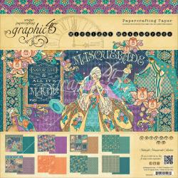 "Graphic 45 Double-Sided Paper Pad 12""X12"" - Midnight Masquerade, 8 Designs/3 Each"