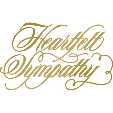 Heartfelt Sympathy Hotfoil Stamp - Size: 63.9 x 38.3mm | 2.5 x 1.5in - AG & CO