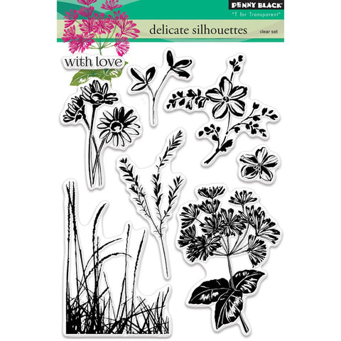 Delicate Silhouettes Clear Stamp Set