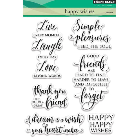 "Penny Black Clear Stamps 5""X7"" - Happy Wishes"