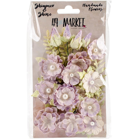 49 and Market Shimmer and Shine Flowers - 19 pieces/pk