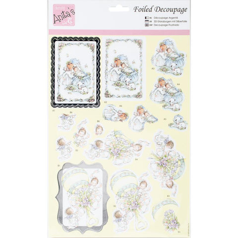 Anita's A4 Foiled Decoupage Sheet -  Baby Bliss