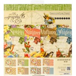 "Graphic 45 Double-Sided Paper Pad 8""X8"" - Seasons, 8 Designs/3 Each"