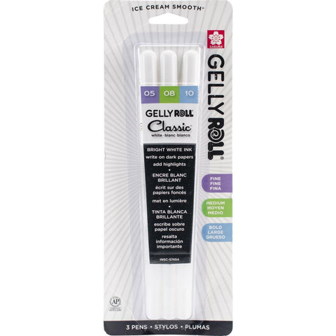 Gelly Roll Classic Bold Point Pens 3 sizes per pack