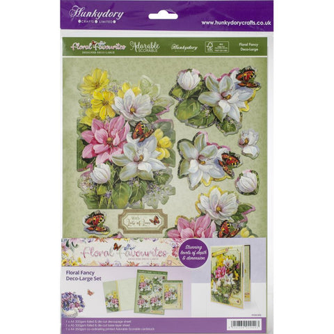 Hunkydory Floral Favorites A4 Decoupage Set - Floral Fancy