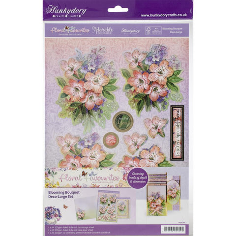 Copy of Hunkydory Floral Favorites A4 Decoupage Set -Blooming Bouquet