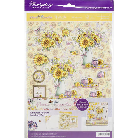 Hunkydory Floral Favorites A4 Decoupage Set - Sunflower Surprise