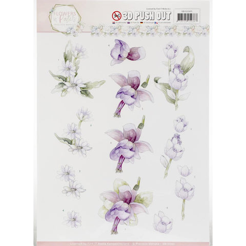 Find It Precious Marieke Flowers In Pastels Punchout Sheet