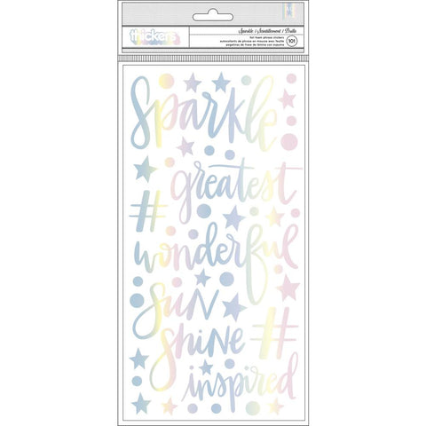 "Shimelle Sparkle City Thickers Stickers 5.5""X11"" 101/Pkg"